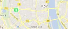 Anfahrt zur T-Klinik in Köln, NRW