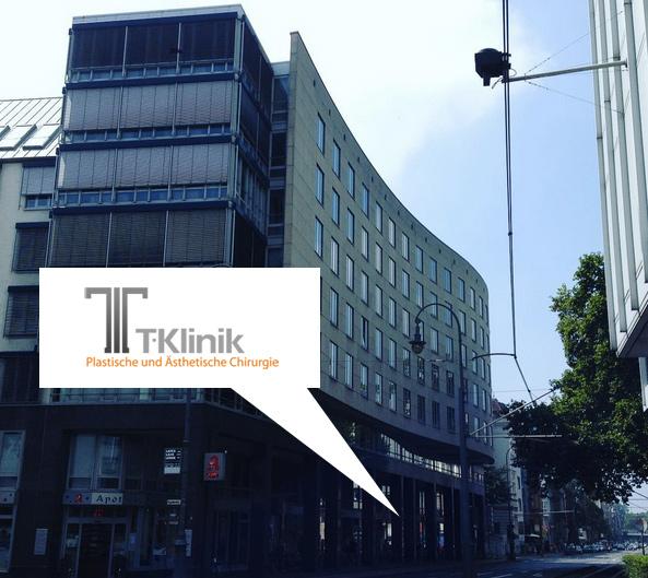 Klinikgebäude der T-Klinik in Köln